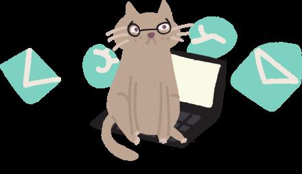 изображение кота на ноутбуке