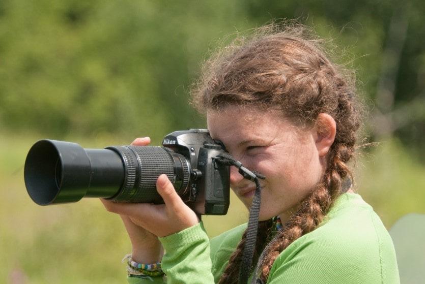 Девушка-фотграф