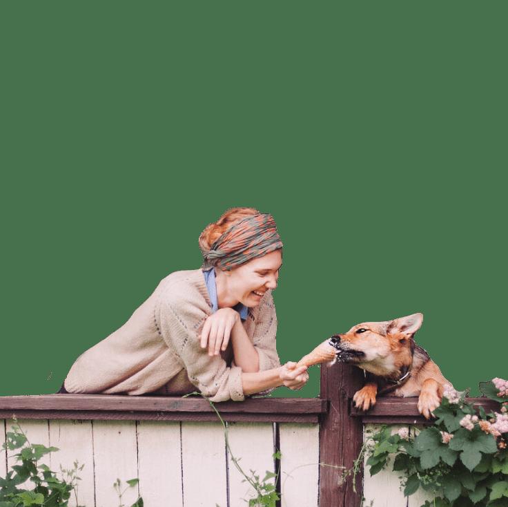 Женщина и собака